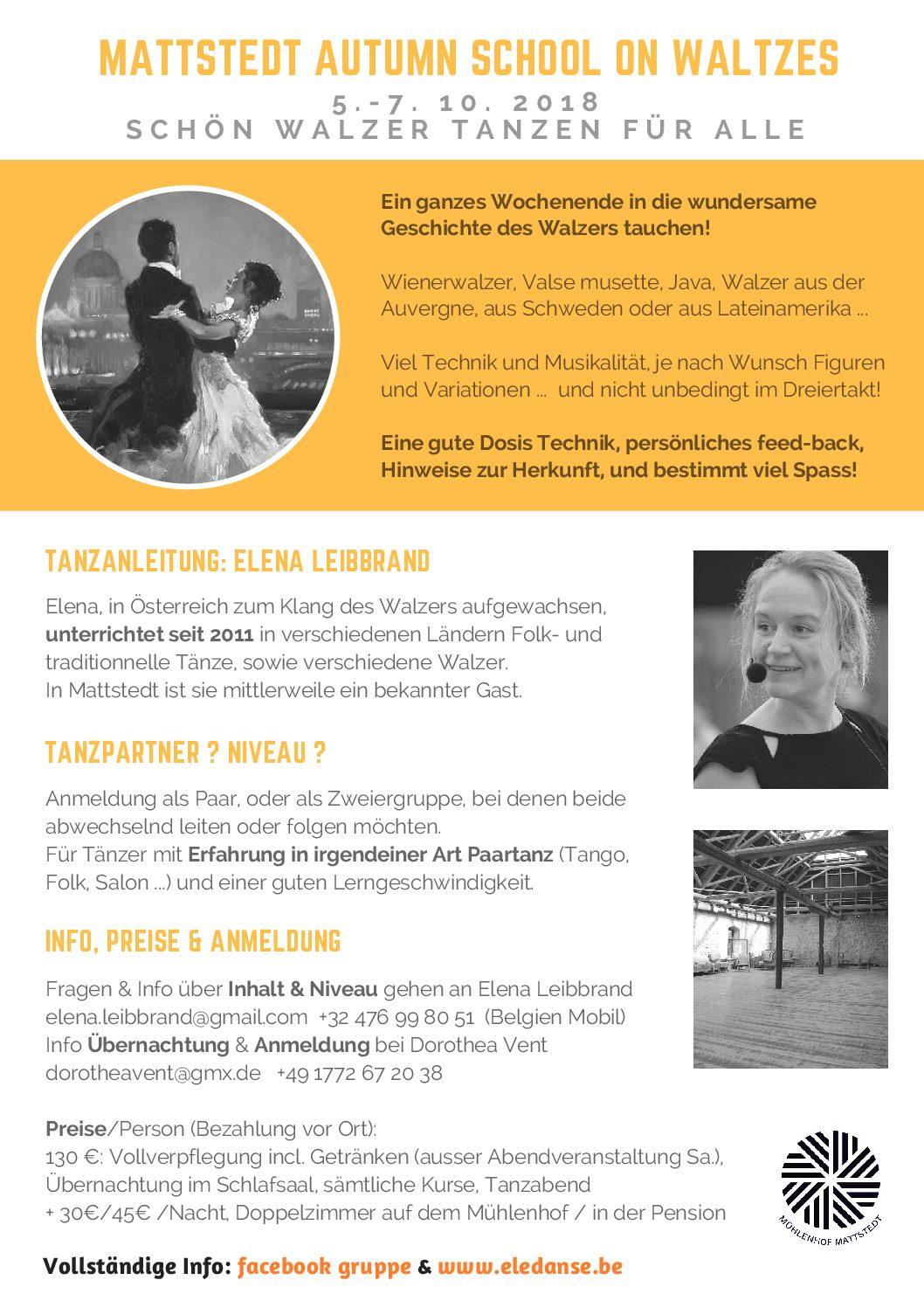 Mattstedt autumn school on waltzes: Schön Walzer tanzen für alle (DE)
